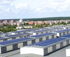 Installation of solar panels in DITTON Industrial and Technology Park